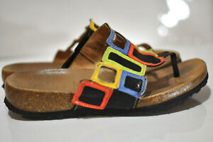 Think-Womens-leather-colorful-sandals-size-EU-38