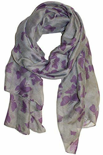 New Butterfly Print Ladies Celebrity Style Scarves Scarf Wrap Sarong Shawl