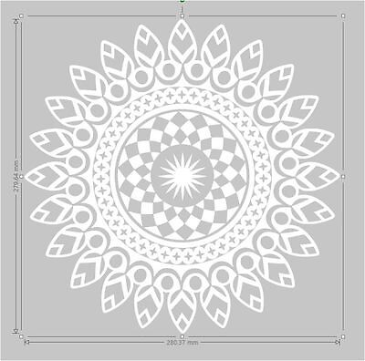 Mandala vinyl wall art sticker decal transfer mural easy application 2704