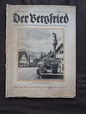 Der Bergfried 34 1936 Florianbrunnen Partenkirchen Hussitenfest Bernau Marokko