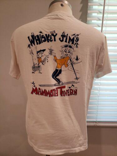 Vtg early 60s Bar T-Shirt, Mammoth, Ski, Humor, Si