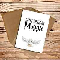 Birthday card handmade Harry Potter Muggle