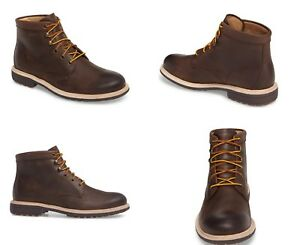 527e04369dd UGG VESTMAR GRIZZLY BROWN ROUND TOE LEATHER BOOTS MENS SIZE 12 US ...