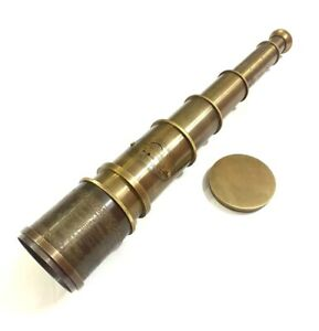 18-034-Antique-Maritime-Brass-Telescope-Nautical-Victorian-Handheld-Spyglass-Scope