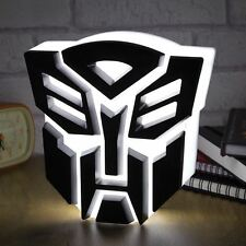 Transformers Autobot Badge Logo Light USB LED Desk Lamp Kids Bedroom Night Light