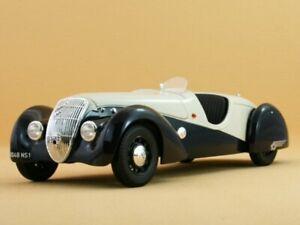 PEUGEOT 302 Darl Mat Roadster - 1937 - blue / cream - Norev 1:18