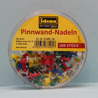 100 Stück Idena 333005 Pinnwandnadeln