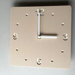 Carre-Latte-beige-TAPIS-amp-Blanc-renforce-horloge-blanc-mains-balayage-silencieux