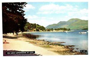 Postcard-ON-LOCH-LOMONDSIDE-AT-LUSS-Ref-D1