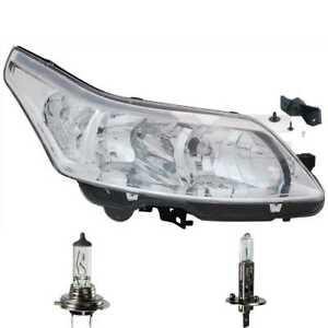 Scheinwerfer-links-H1-H7-fuer-Citroen-C4-Coupe-LA-LC-inkl-Osram-Lampen