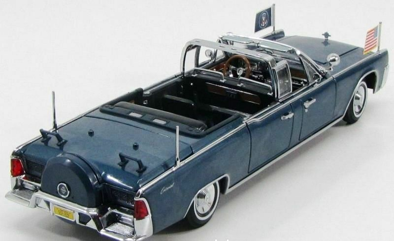 Yatming Kennedy 1961 Lincoln X-100 Limo Limo Limo 1 24 Scale f6981d