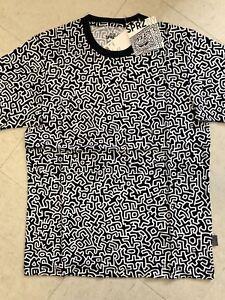 Keith-Haring-X-UNIQLO-SPRZ-NY-Monogram-T-shirt-Black-US-size-S-XL-MoMa-New-York