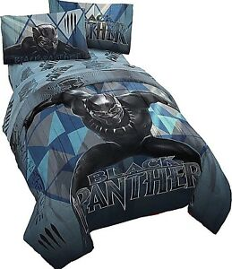 Black Panther Bed Set Twin Or Full 4 Piece Bedding