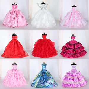 10PCS-Handmade-Wedding-Party-Gown-Dresses-Clothes-for-Doll-Random-Color-Style
