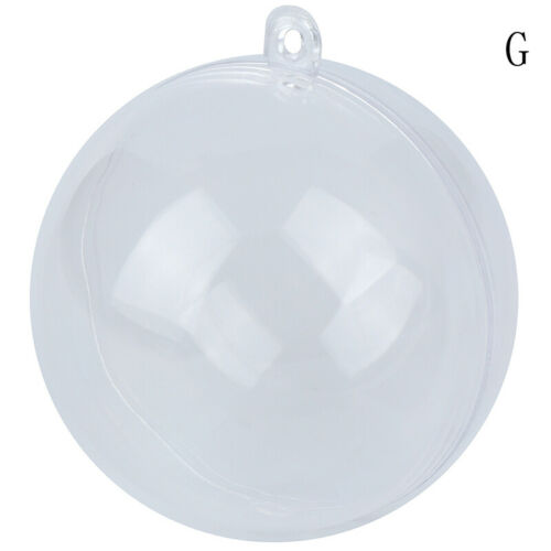 Plastic Round Ball Christmas Clear Bauble Ornament Gift Present Xmas Tree NJB