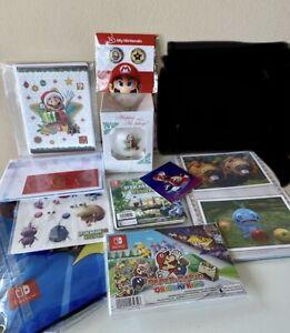 My Nintendo Reward Lot Includes Pins, Mario Ornament Rare Summer Sticker ++ +