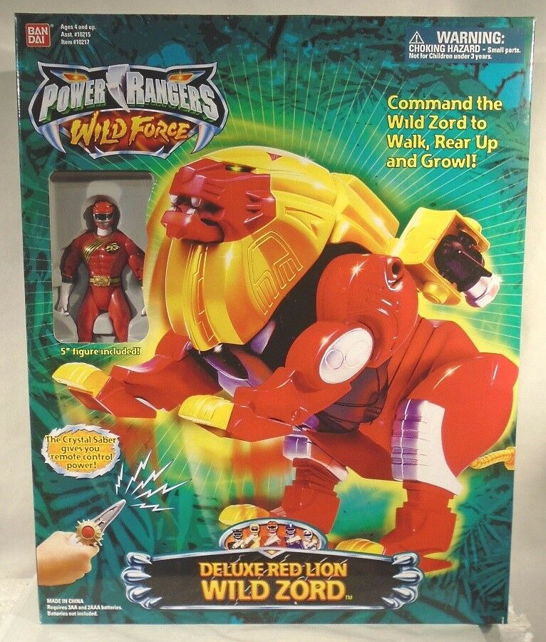 Power Rangers Wild Force Deluxe Red Lion Wild Zord Combines With Isis Megazord