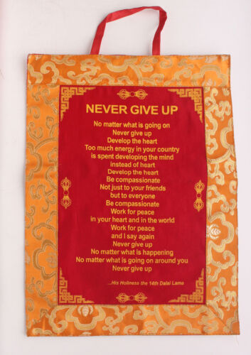 Beautiful H.H Dalai Lama/'s Sayings Brocade Wall Hanging