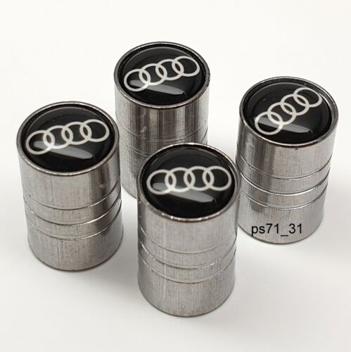 Válvula de Ruedas Neumático de Audi Tapas de polvo Conjunto de regalo para él su padre Esposa Novia Amiga