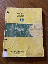 John Deere 9400 9500 Amp 9600 Combines Operator Manual Omh138016