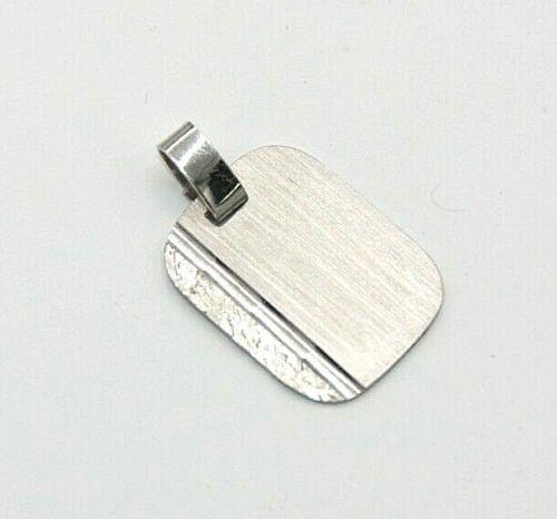 Anhänger  Gravurplatte  925er Silber