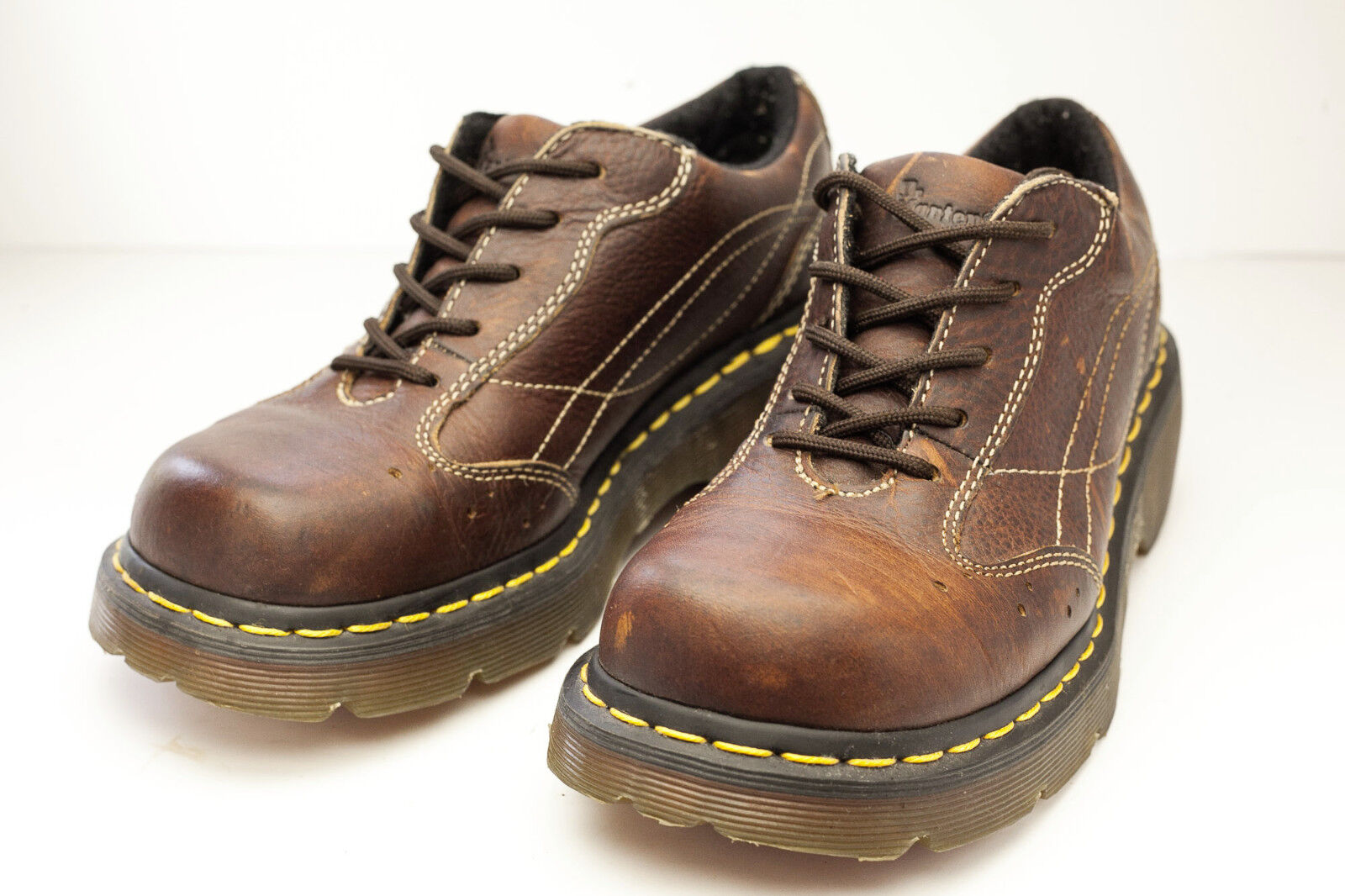 Dr Martens 8 Brown Oxfords Platform Women's shoes