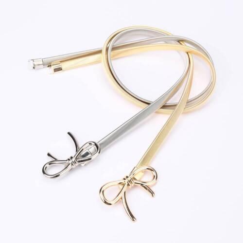 Frauen Bowknot geformt Gürtel Metall elastischen Gürtel Kleid Gürtel