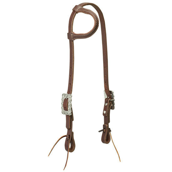 Southwest Square Scalloped One Ear Headstall