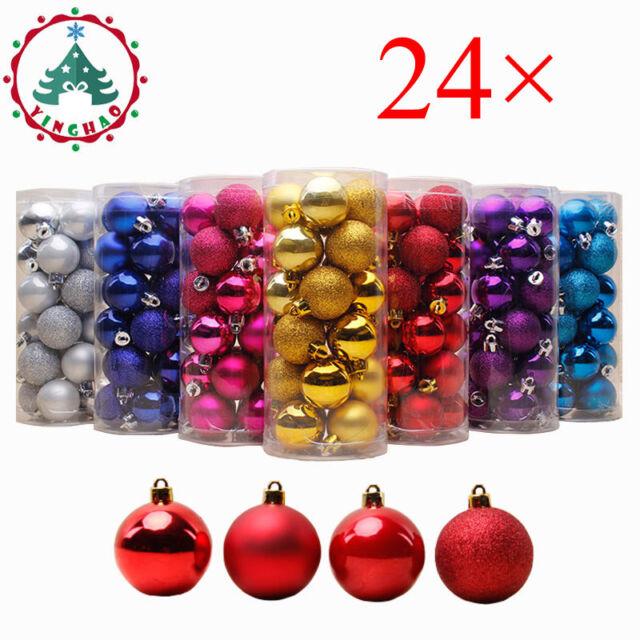 Christmas Xmas Tree Balls Ornaments Party Pendants Baubles 24pcs//Box Decoration