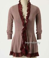 Anthropologie Guinevere Steamed Cappuccino Cardi Size S