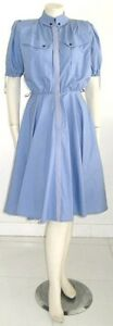 THIERRY-MUGLER-DRESS-LAVENDER-COTTON-Vintage-1980-039-s-FRENCH-SIZE-36-USA-size-6