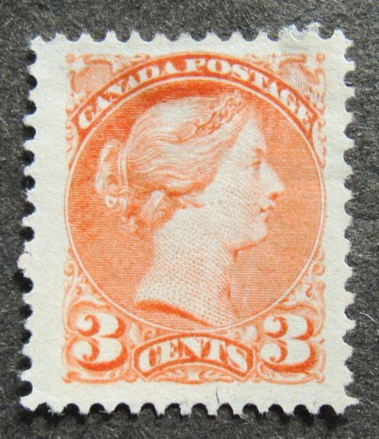 Canada 1870 3C Queen Victoria gez 12 vermilion, Mi #28cA MNG