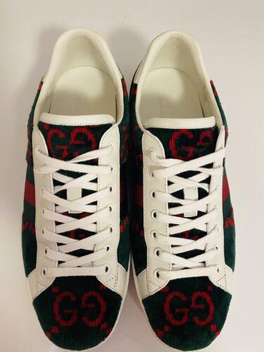 Gucci Velvet Sponge Green Sneakers