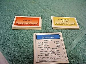PROPERTY CARDS SEE DROP DOWN MENU FULL SETS OF VARIOUS MONOPOLY EDITIONS DEED