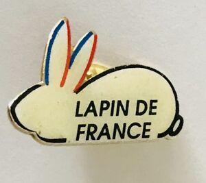 Lapin-De-France-Advertising-Rabbit-Lapel-Pin-Badge-Vintage-N19