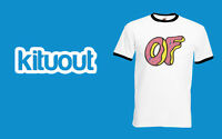 ODD FUTURE DOUGHNUT Ringer T-Shirt OFWGKTA Tyler The Creator WOLF Gang Top