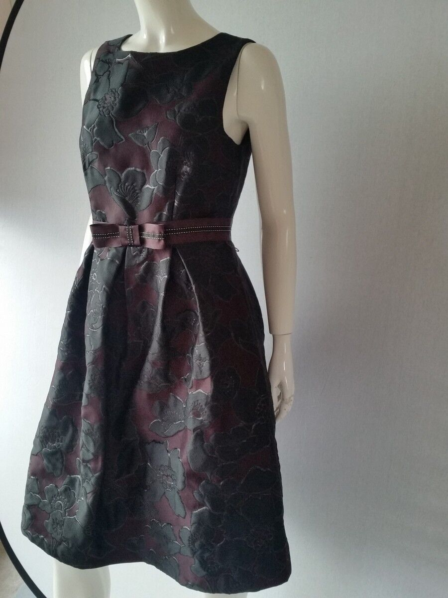 HALLHUBER damen Kleid jacquard schwarz UVP Euro 169,90Gr.44--UK16NEU