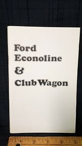 1974-FORD-Econoline-Club-Wagon-Original-NOS-Owner-039-s-Manual-Excellent-Cond-US