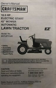 craftsman parts manual lawn tractor