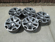 "17"" Jeep Wrangler Rubicon CHARCOLE Factory Wheels OEM Rims SET 5"