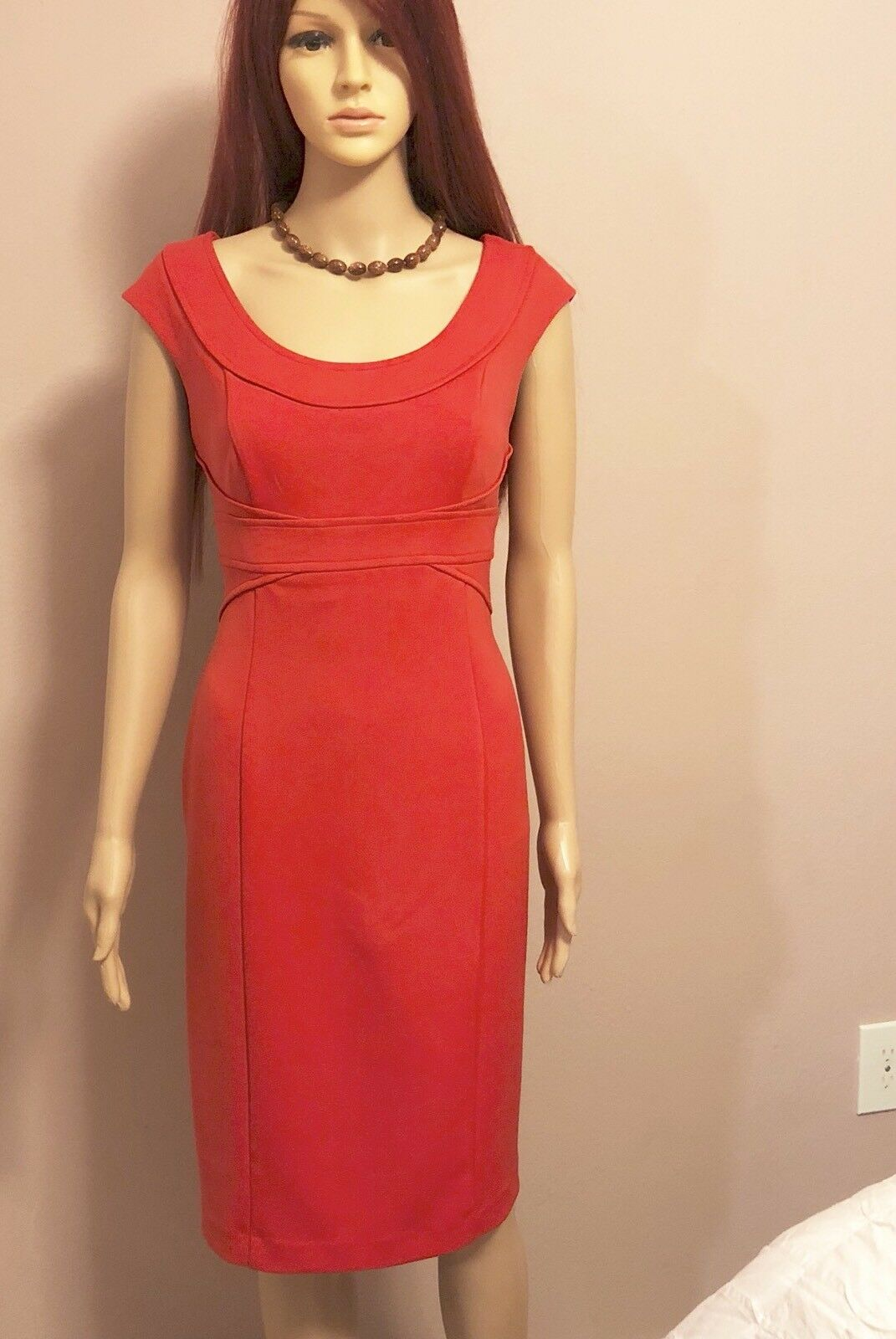 Maggy London Women's Red Dress Form Fit Size 10