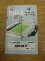 17/11/1962 Aston Villa v Burnley  (water marked). Thanks for viewing our item.