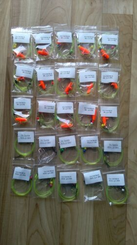25 x Mixed Baitholder hook sea fishing Rigs 3//0 2//0 and 1//0 good 4 cod,bass etc