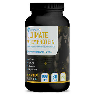 Whey Protein Shakes for men with Strawberry Flavor for Fast Muscle Growth Gain
