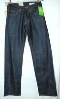 Straight Leg Dark Blue Gents Jeans Men Denim Trousers Size 27x32 Bragg H&m
