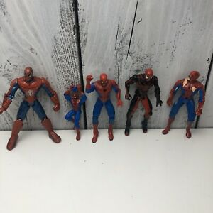 2000-039-s-90s-Marvel-Legends-Spider-Man-Avengers-5-034-Action-Figure-Lot-OF-5-Loose