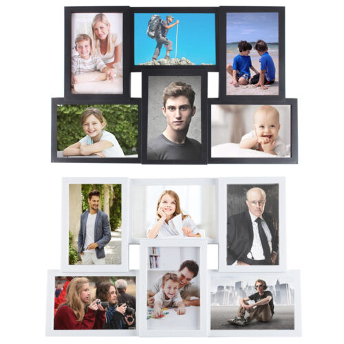 Multi Photo Picture Frames Holds 6x4 6 Photos Black White Copper Wedding Gift