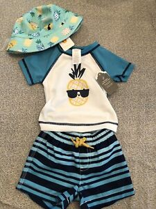 NEW Boys Size 0-3 Months Gymboree One-Piece Outfit Pineapples NWT