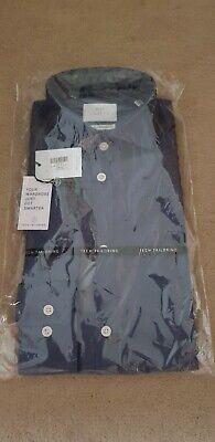 """** Nuovo ** Da Uomo 15"""" Moss Bros Extra Slim Fit Camicia-blu-mostra Il Titolo Originale Ricco E Magnifico"""