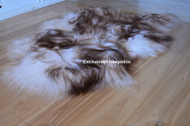 Ikea Ludde Ivory White Sheepskin Rug Genuine Fluffy Wool Sheep